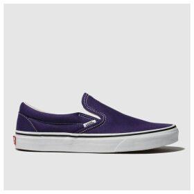 Vans Purple Classic Slip-on Trainers