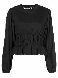 Opening Ceremony silk long sleeve top - Black