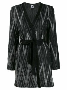 M Missoni Zigzag metallic knit cardigan - Black