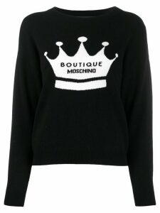 Boutique Moschino intarasia pullover - Black