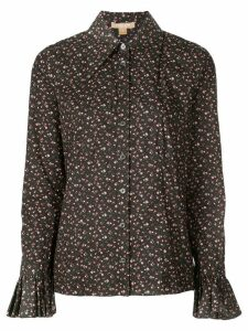 Michael Kors Collection floral print shirt - Black