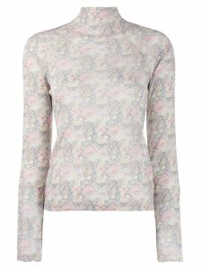 Nanushka tapestry flower jumper - Grey