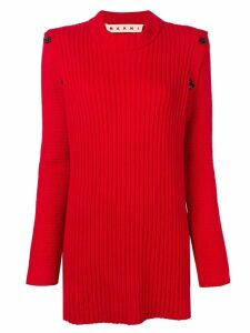 Marni long rib sweater - Red