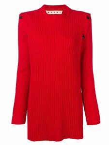 Marni long rib sweater - Red