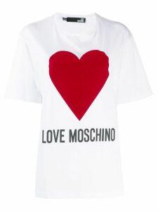 Love Moschino oversized logo T-shirt - White