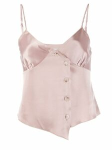 Nanushka satin camisole top - NEUTRALS