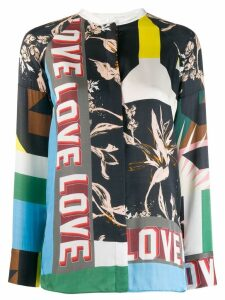 Dorothee Schumacher patch-work print blouse - Blue