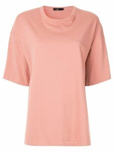 Bassike oversized heritage T-shirt - Pink