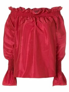 Adam Lippes off-the-shoulder blouse - Red