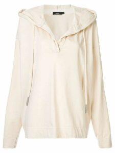 Bassike cropped hoodie - Neutrals