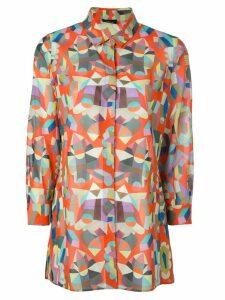 Akris poplin printed shirt - Multicolour