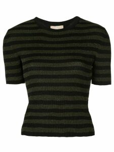 Michael Kors Collection glitter striped top - Green
