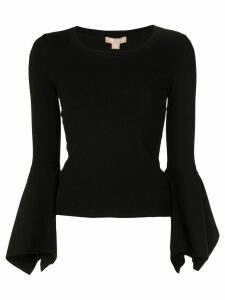 Michael Kors Collection flared sleeve top - Black