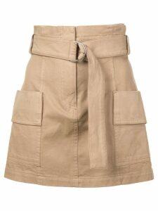 A.L.C. high waisted mini skirt - Brown