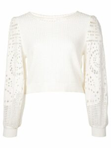 A.L.C. crochet sleeve sweater - White
