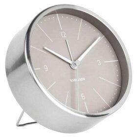 Karlsson Brushed steel normann alarm clock