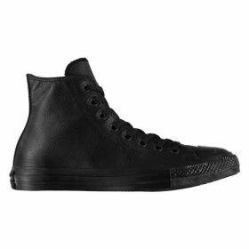 Converse All Star Chuck Taylor Mono Leather Hi Trainers