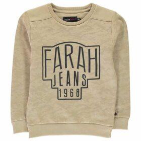 Farah Vintage Camo Fleece Crew Neck Sweater