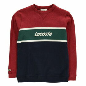Lacoste Logo Colour Block Sweatshirt