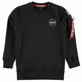 Alpha Industries NASA Badge Crew Neck Sweater