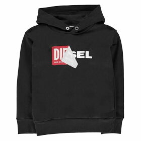 Diesel Salby Peel Hooded Logo Sweatshirt
