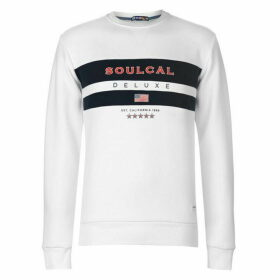 SoulCal Navy Stripe Crew Neck Jumper