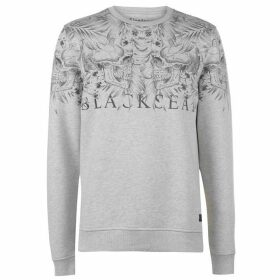 Firetrap Blackseal Skull Leaf Crew Sweater