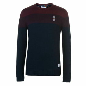 SoulCal Deluxe Pattern Crew Knit Jumper
