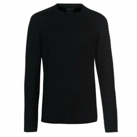 Howick Collington Cable Knit Jumper Mens