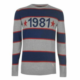 Guess Bronch Knit Jumper Mens