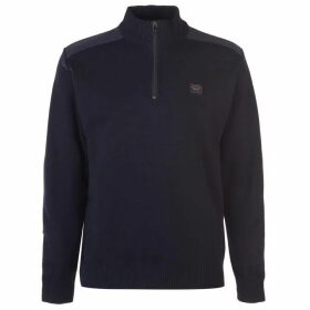 Paul And Shark Marine Quarter Zip Sweater Mens