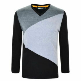DKNY Block V Neck Jumper