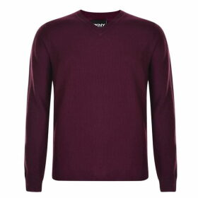 DKNY V Neck Knit Jumper