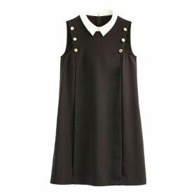 Sixties Shift Dress with Shirt Collar