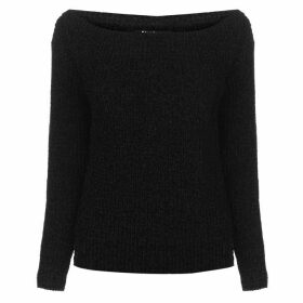 Firetrap Blackseal Off Shoulder Knitted Jumper