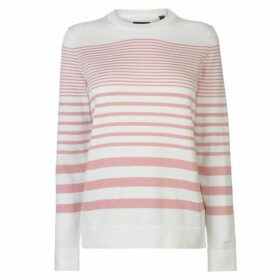 Gant Stripe Crew Jumper Ladies