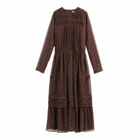 Flared Boho Midi Dress