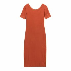 Ribbed T-Shirt Midi Dress