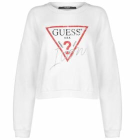Guess Icon Fleece Jumper Ladies