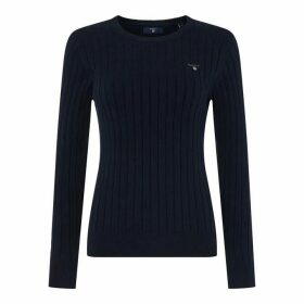 Gant Cotton Rib Jumper Womens