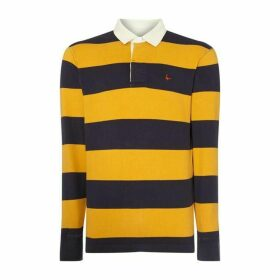 Jack Wills Jack Long Sleeve Camber Stripe Rugby Polo