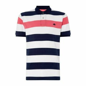 Raging Bull Contrast Stripe Polo