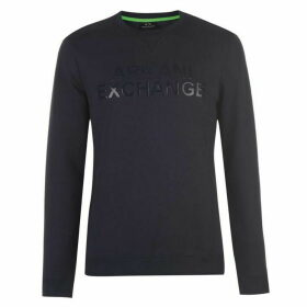 Armani Exchange Armani Rubber Logo Sweatshirt Mens