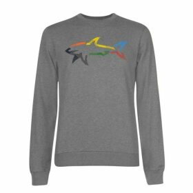 Paul And Shark Multi Colour Shark Crew Sweatshirt Mens