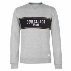 SoulCal Deluxe Panel Crew Neck Sweatshirt