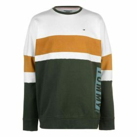 Tommy Jeans Boxy Block Crew Neck Sweatshirt