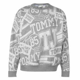 Tommy Jeans Logo AOP Crew Sweatshirt