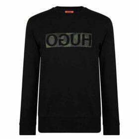 HUGO Reverse Print Camouflage Logo Sweatshirt