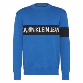Calvin Klein Jeans Institutional Embroidered Crew Sweatshirt