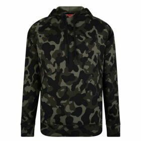 HUGO Oversized Camouflage Hooded Sweatshirt